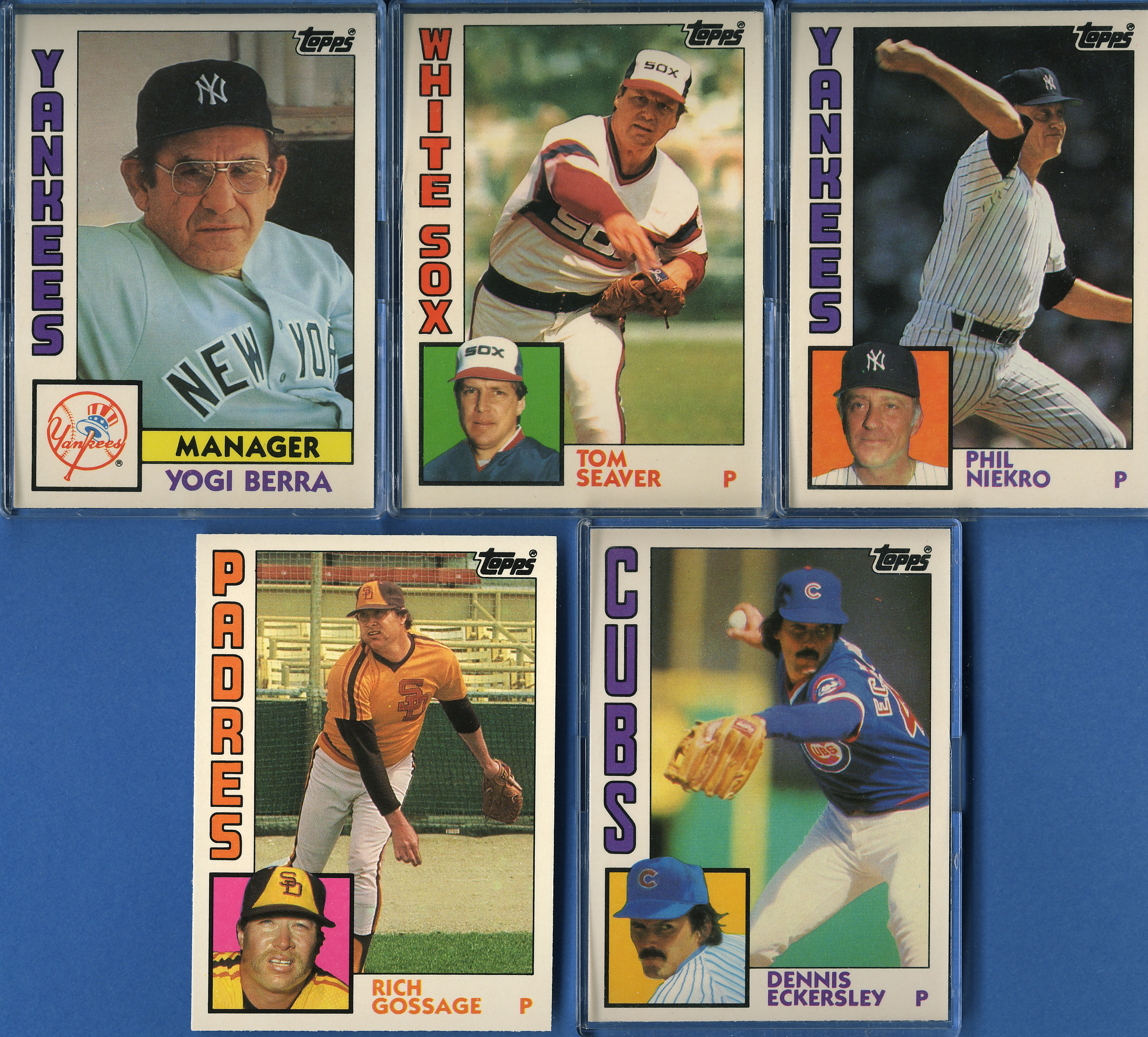 Plus Rookie Cards of Dwight Gooden and Bret Saberhagen Among Others. 1984 Topps Traded Baseball Series Complete 132 Card Set in Original Factory Set Box Contains Pete Rose and Tom Seaver