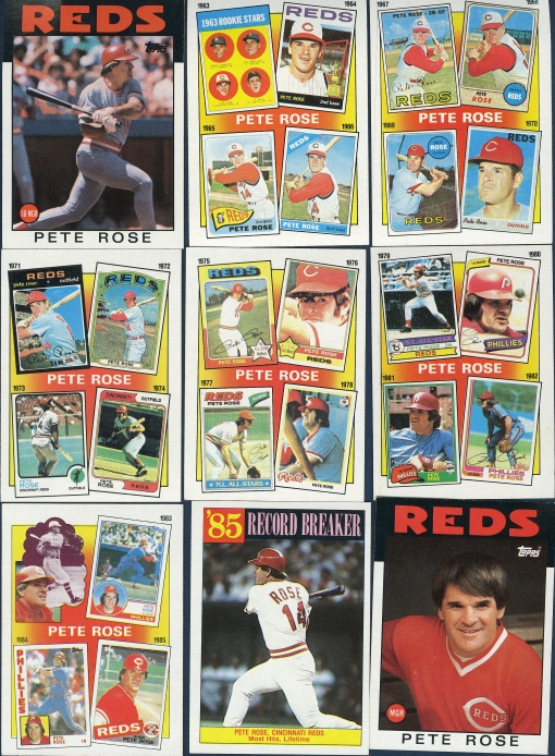 86T Pete Rose cards