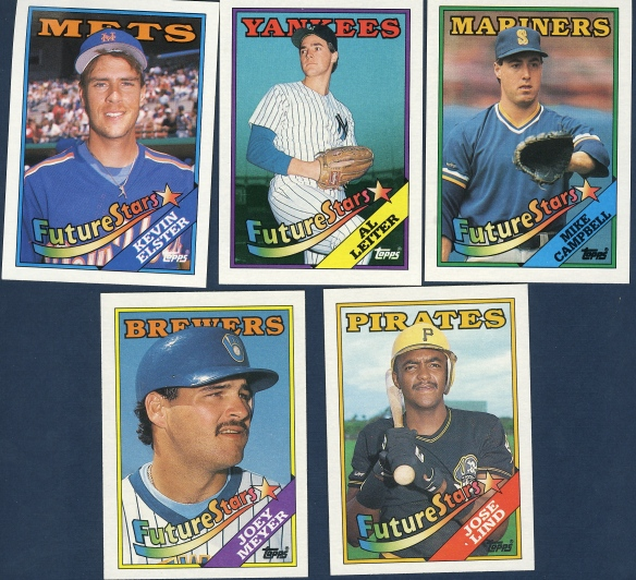 1988 Topps All Star Rookie Team And Future Stars
