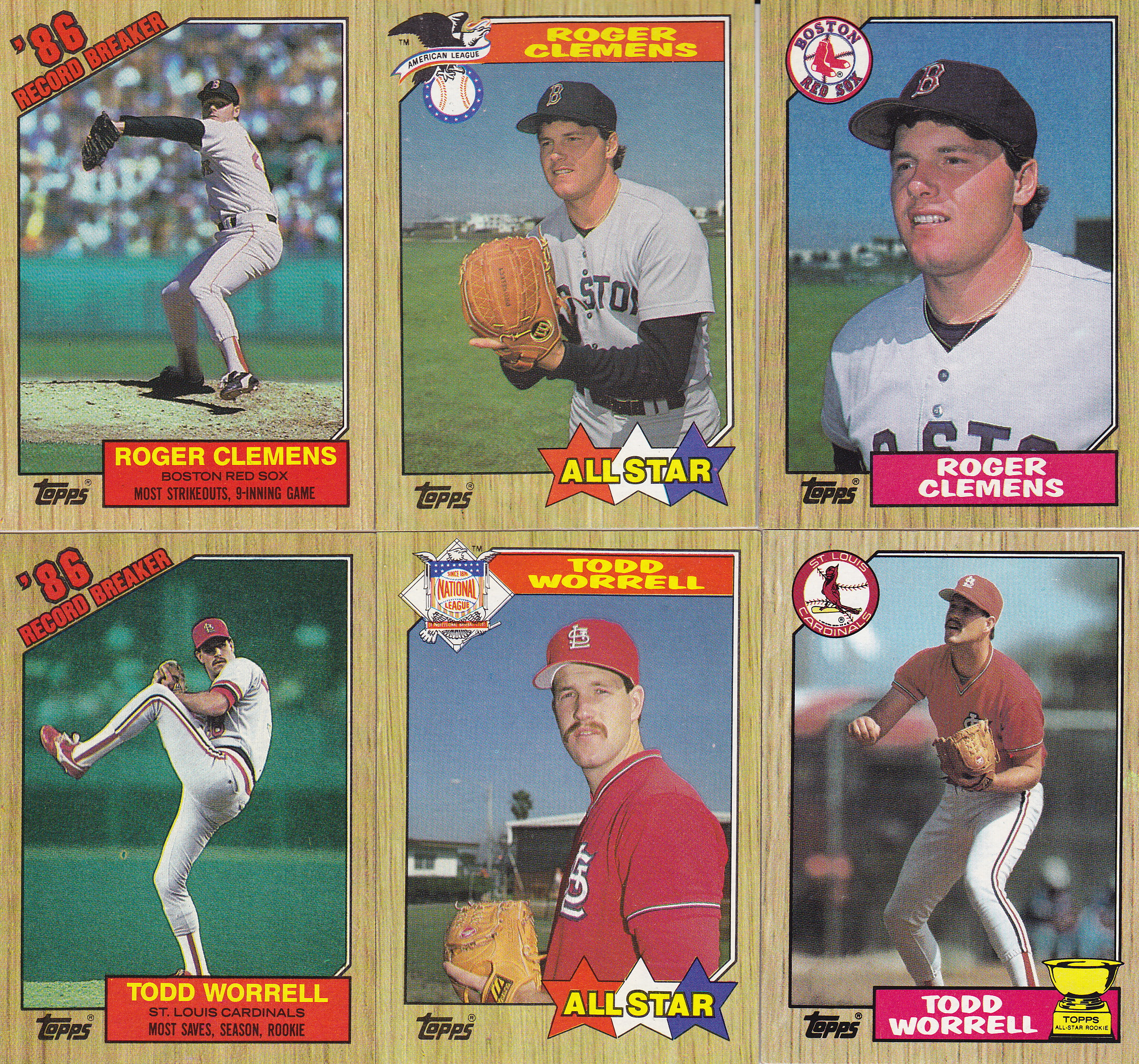 Completed Set Amp Master Set One Last Look At 1987 Topps