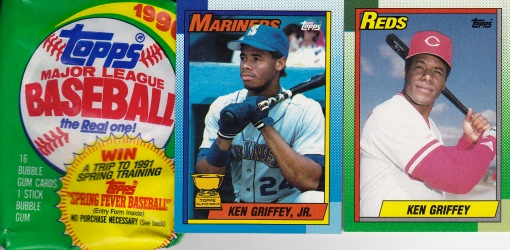 1990 Topps Griffey, pack