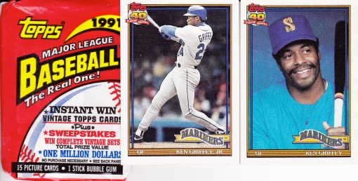 1991 Topps Griffey Pack