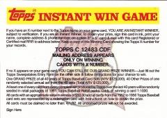 1991 Topps Instant Win