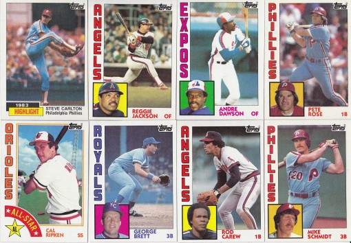 Completed set & master set – one last look at 1984 Topps | Lifetime