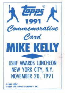 1992 Topps Golden Spikes Mike Kelly back