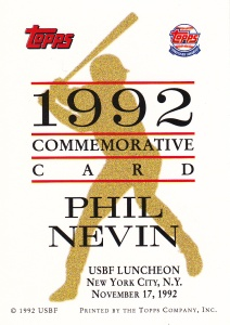 1993 Topps Golden Spikes Phil Nevin back