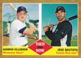 2011 Topps Heritage Then Now Bautista Killebrew