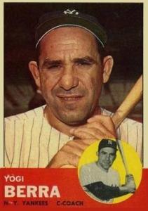 1963 topps Yogi