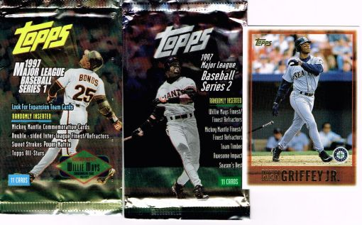 Griffey 97 Topps pack