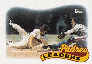 1989 Topps best action Padres TL