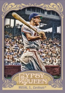 2012 Gypsy Queen 2nd best card Musial