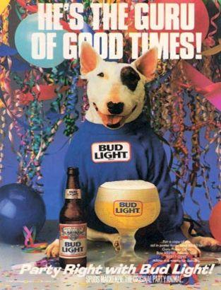 Saturday Suds Baseball Amp Beer 7 Spuds Mackenzie Bud