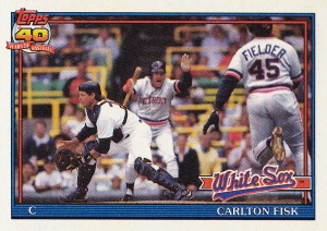 1991 Topps best action Fisk