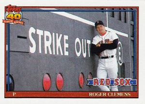 1991 Topps best pose Clemens