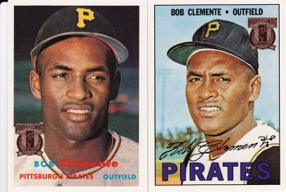 1998 Topps s1 box Clemente reprints