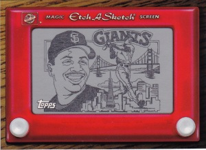 1998 Topps s1 Etch a Sketch Bonds