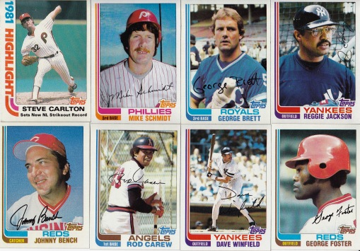 1982 Topps 1 and 00s