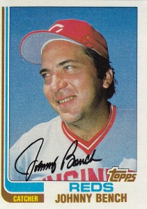 1982 Topps best card Johnny Bench
