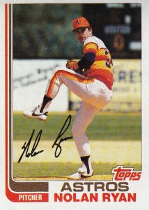 1982 Topps best card Nolan Ryan
