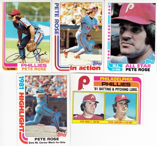 1982 Topps most cards Rose