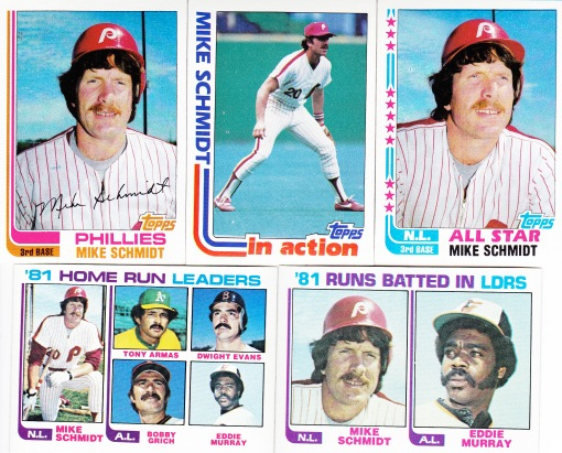 1982 Topps most cards Schmidt