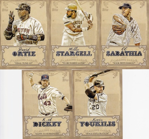 2013 Topps s1 box Calling Cards