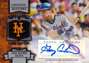 2013 Topps s1 box Carter Chasing History auto