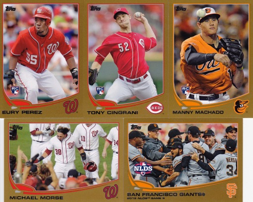 2013 Topps s1 box Gold