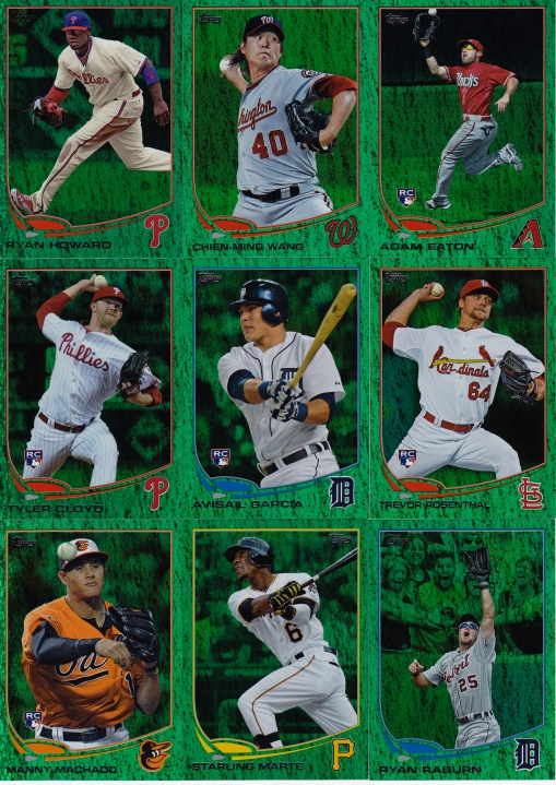 2013 Topps s1 Emerald Parallel