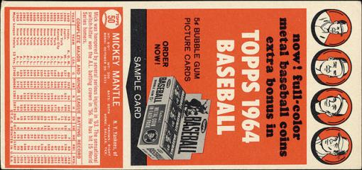 1964 Topps Ad panel back 2