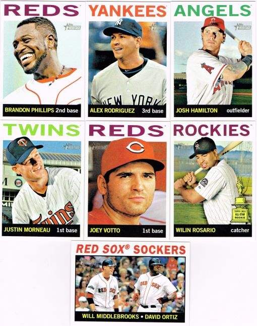 2013 Heritage blaster base cards
