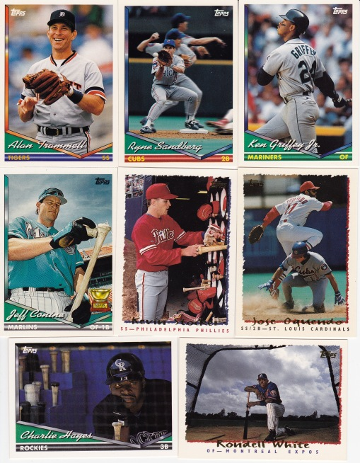 Trade with Kyle March 94 95 Topps