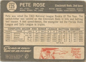 1964 Topps Venezuelan Rose Back