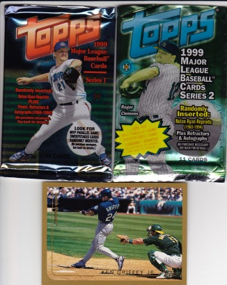 1999 Topps packs Griffey