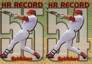 1999 Topps series 1 box McGwire HR Record