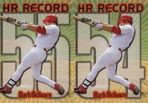 1999 Topps series 1 box McGwire HR Record