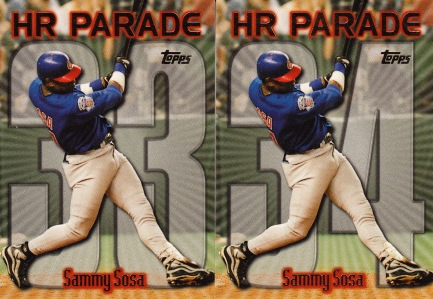 1999 Topps series 2 box Sosa HR Parade