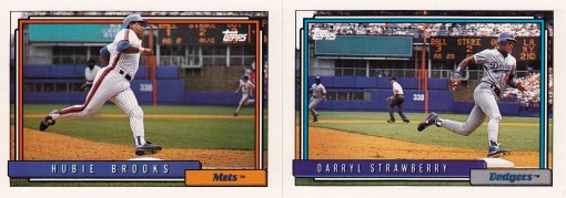 1992 Topps Strawberry Brooks best action