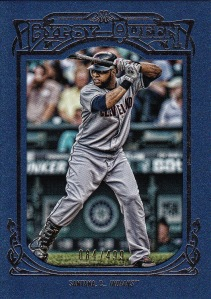 2013 Gypsy Queen blue framed Carlos Santana