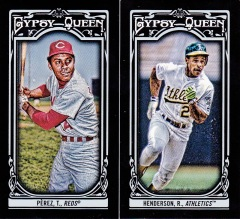 2013 Gypsy Queen box 2 black minis Perez Rickey