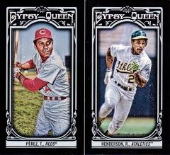 2013 Gypsy Queen box 2 black minis Perez Rickey
