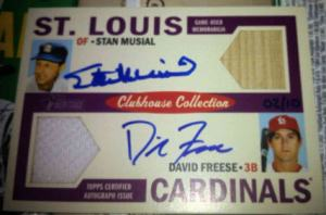 2013 Heritage Clubhouse dual auto Freese Musial