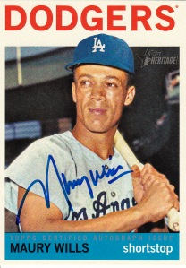 2013 Heritage Real One Maury Wills
