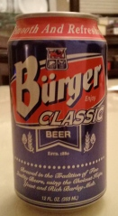 Burger beer can