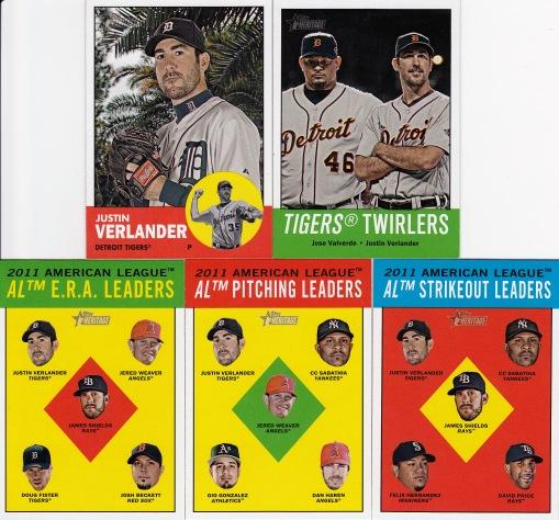 2012 Heritage Justin Verlander most cards