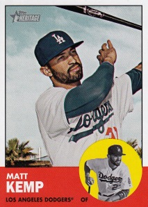 2012 Heritage Matt Kemp best card