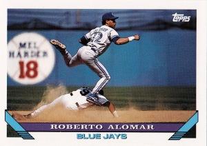 1993 Topps best action Alomar