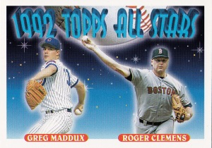 1993 Topps best subset Clemens Maddux AS
