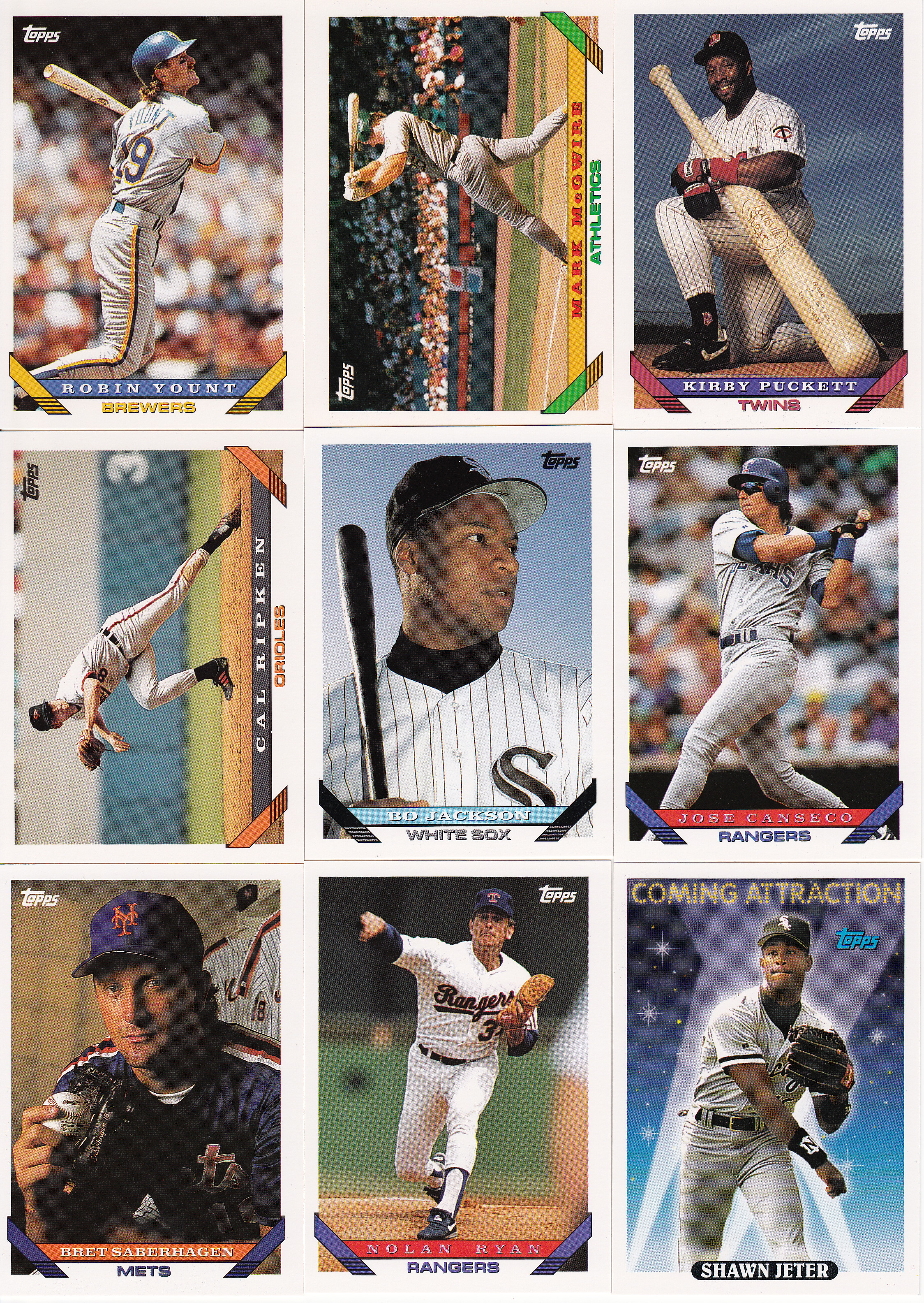 Topps 1993 Lifetime Topps Project