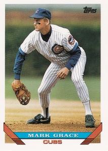 1993 Topps Mark Grace 630 last card